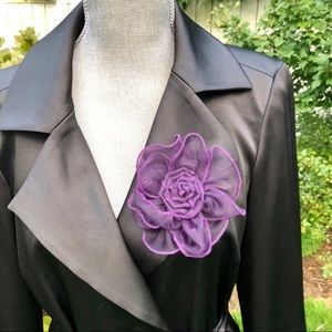 🆕 NWOT Nordstrom Purple Floral Chiffon Pin Clip